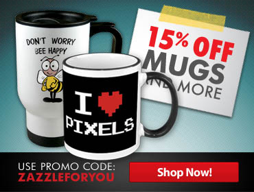 15% Off* at the Zazzle Marketplace
