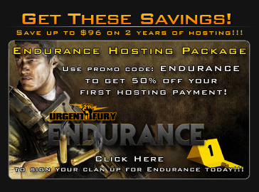 Urgent Fury Hosting announces the 50% Endurance Hosting Sale