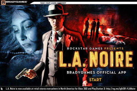 Get the BradyGames official LA NOIRE App for IPhone and IPad